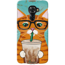 Чехол на Alcatel Idol 4 Pro Зеленоглазый кот в очках (4054u-1537)