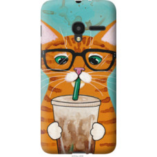 Чехол на Alcatel One Touch Pixi 3 4.5 Зеленоглазый кот в очках (4054u-408)