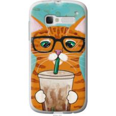 Чехол на Alcatel One Touch Pop C5 5036D Зеленоглазый кот в очках (4054u-324)