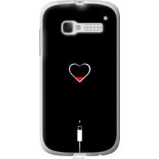 Чехол на Alcatel One Touch Pop C5 5036D Подзарядка сердца (4274u-324)