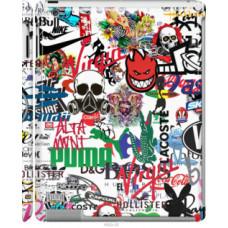 Чехол на Apple iPad 2/3/4 Many different logos (4022c-25)