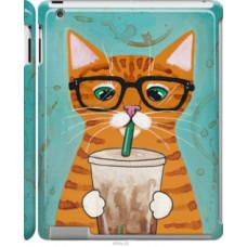 Чехол на Apple iPad 2/3/4 Зеленоглазый кот в очках (4054c-25)