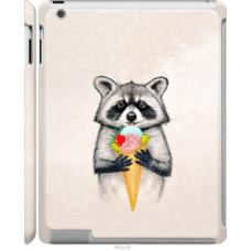 Чехол на Apple iPad 2/3/4 Енотик с мороженым (4602c-25)