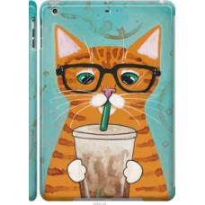 Чехол на Apple iPad 5 (Air) Зеленоглазый кот в очках (4054c-26)