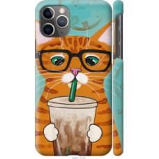 Чехол на Apple iPhone 11 Pro Max Зеленоглазый кот в очках (4054c-1723)