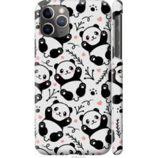 Чехол на Apple iPhone 11 Pro Max Панды (4318c-1723)