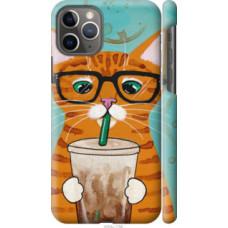 Чехол на Apple iPhone 11 Pro Зеленоглазый кот в очках (4054c-1788)