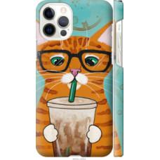 Чехол на Apple iPhone 12 Pro Зеленоглазый кот в очках (4054c-2052)
