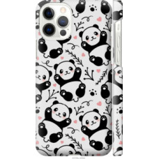 Чехол на Apple iPhone 12 Pro Панды (4318c-2052)