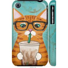 Чехол на iPhone 3Gs Зеленоглазый кот в очках (4054c-34)