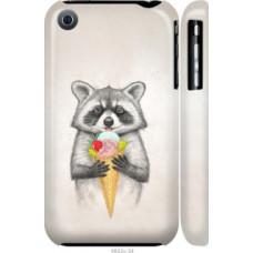 Чехол на iPhone 3Gs Енотик с мороженым (4602c-34)