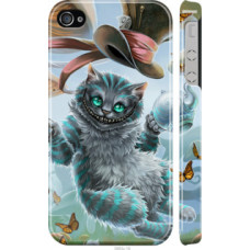 Чехол на iPhone 4 Чеширский кот 2 (3993c-15)