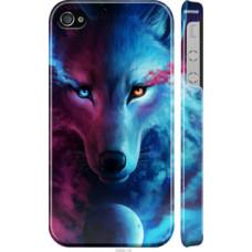 Чехол на iPhone 4 Арт-волк (3999c-15)