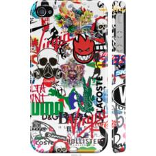 Чехол на iPhone 4 Many different logos (4022c-15)
