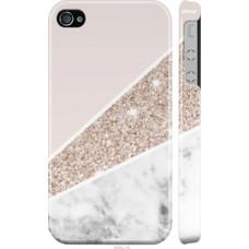 Чехол на iPhone 4 Пастельный мрамор (4342c-15)