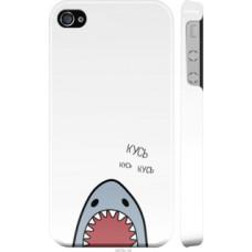 Чехол на iPhone 4 Акула (4870c-15)