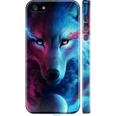 Чехол на iPhone 5s Арт-волк (3999c-21)