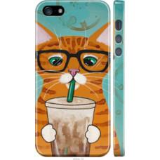 Чехол на iPhone 5s Зеленоглазый кот в очках (4054c-21)