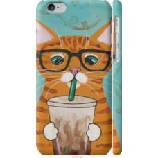 Чехол на iPhone 6 Зеленоглазый кот в очках (4054c-45)
