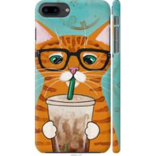 Чехол на iPhone 8 Plus Зеленоглазый кот в очках (4054c-1032)
