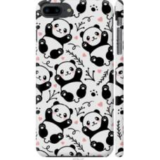 Чехол на iPhone 8 Plus Панды (4318c-1032)