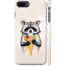 Чехол на iPhone 8 Plus Енотик с мороженым (4602c-1032)