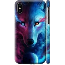 Чехол на Apple iPhone X Арт-волк (3999c-1050)