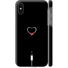Чехол на Apple iPhone X Подзарядка сердца (4274c-1050)