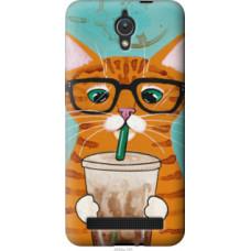 Чехол на Asus ZenFone C ZC451CG Зеленоглазый кот в очках (4054u-181)