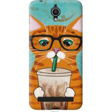 Чехол на Asus ZenFone Go ZC451TG Зеленоглазый кот в очках (4054u-276)