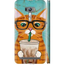 Чехол на Asus ZenFone Selfie ZD551KL Зеленоглазый кот в очках (4054c-116)