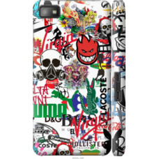 Чехол на Blackberry Z10 Many different logos (4022c-392)