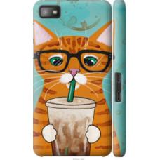 Чехол на Blackberry Z10 Зеленоглазый кот в очках (4054c-392)