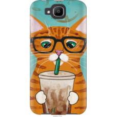 Чехол на Doogee X9 mini Зеленоглазый кот в очках (4054u-774)