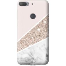 Чехол на HTC Desire 12 Plus Пастельный мрамор (4342u-1485)