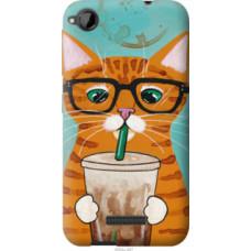 Чехол на HTC Desire 320 Зеленоглазый кот в очках (4054u-497)
