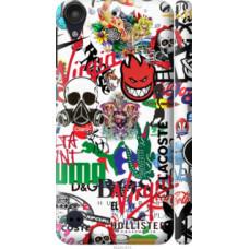 Чехол на HTC Desire 530 Many different logos (4022c-613)