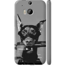 Чехол на HTC One M8 dual sim Доберман (2745c-55)