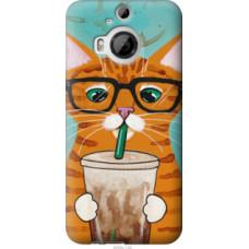 Чехол на HTC One M9 Plus Зеленоглазый кот в очках (4054u-134)