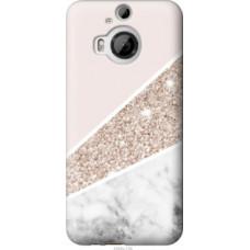 Чехол на HTC One M9 Plus Пастельный мрамор (4342u-134)