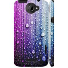 Чехол на HTC One X+ Капли воды (3351c-69)