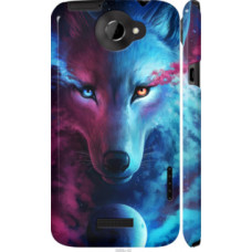 Чехол на HTC One X+ Арт-волк (3999c-69)