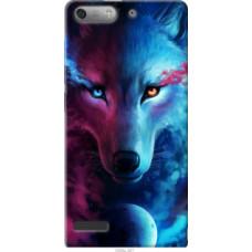 Чехол на Huawei Ascend G6 Арт-волк (3999u-367)