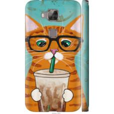 Чехол на Huawei G8 Зеленоглазый кот в очках (4054c-493)