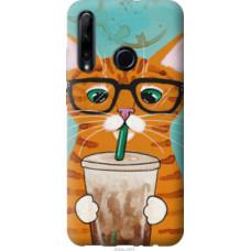Чехол на Huawei Honor 10i Зеленоглазый кот в очках (4054c-1673)