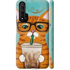 Чехол на Huawei Honor 20 Зеленоглазый кот в очках (4054c-1697)