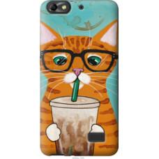 Чехол на Huawei Honor 4C Зеленоглазый кот в очках (4054u-183)