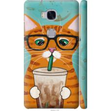 Чехол на Huawei Honor 5X Зеленоглазый кот в очках (4054c-176)