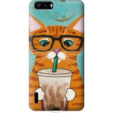 Чехол на Huawei Honor 6 Plus Зеленоглазый кот в очках (4054u-179)