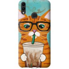 Чехол на Huawei Honor 8C Зеленоглазый кот в очках (4054u-1590)